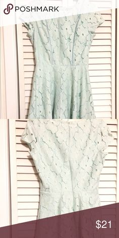 Mint Fit and Flare Dress Pretty vintage mint fit and flare dress from charlotte russe in size small. Worn once but was too small so it is like new. If you have any questions ask. I will reply asap Charlotte Russe Dresses Mini