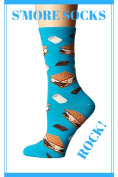 Summer and S'mores go hand and hand.  Gather round the campfire with these S'More inspired socks.