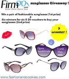 Fashion and Cookies - fashion blog: Firmoo sunglasses Giveaway ! 7 winners !