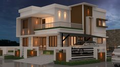 Two Story House Design, 2 Storey House Design, Best Modern House Design, Modern Exterior House Designs, Modern House Facades, Latest House Designs, Duplex House Design, Contemporary House Plans, House Front Design