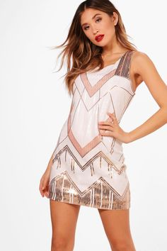 Click here to find out about the Boutique DeDe Sequin Panelled Shift Dress from Boohoo, part of our latest NEW IN collection ready to shop online today!