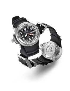 The Citizen Promaster 1000 M Professional Diver has a 47.5-mm titanium case which, as the watch's name implies, is water resistant to 1,000 meters.