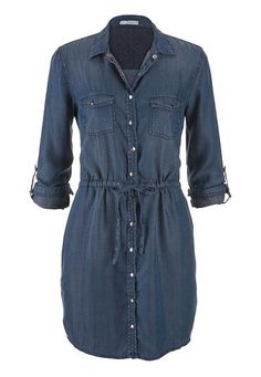 chambray shirtdress in dark wash (original price, $44) available at #Maurices