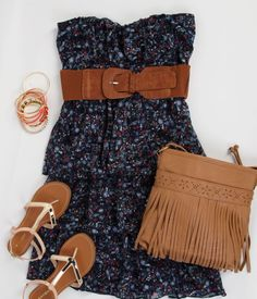 Deb Shops #floral dress with #fringe bag #ootd