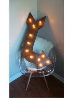 36+Light+Up+Metal+Curved+Arrow+Marquee+Sign++by+marqueemarket