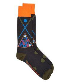 Look at this #zulilyfind! Black & Orange Nice Rack! Crew Socks #zulilyfinds