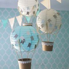 Whimsical Hot Air Balloon decorazione fai da te di mamamaonline