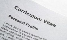 Closeup of curriculum vitae title page
