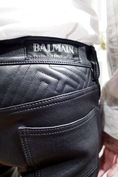 I don't care that they're  balmain, I just want quality leather pants.. Quilted.