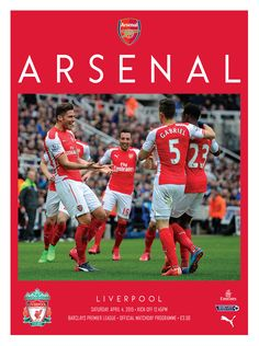 v Liverpool. April 4, 2015. The official Arsenal Matchday programme.