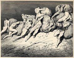 Gustave Doré - Dante Alighieri - Inferno - Plate 22, Canto VII