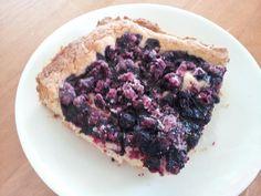 Blueberry pie. Served with Vanilla ice cream.