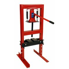 6 Ton Shop Press with Steel Press Plates Hydraulic Bottle Jack Bench Top 12,000 lbs