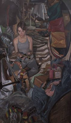"""Jerome Witkin - """" Alexis Firsty and Her Collection of Socks"""" Painting Inspiration, Art Inspo, Figure Painting, Painting & Drawing, Ap Art, Art Portfolio, Portrait Art, Contemporary Paintings, Figurative Art"""