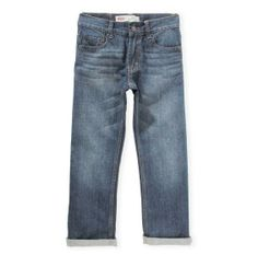 Levi's presents a stretch denim for your little hero. This pair of Levi's 501 jeans are stylish yet comfortable. Straight leg and mid wash finishes this piece off perfectly. Pair it up with leather boots.