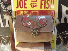 Handmade leather bag, great medium size- hand tooling on flap applique by RoundOakLeather on Etsy