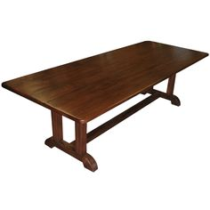 Vintage Black Walnut Dining Table | From a unique collection of antique and modern dining room tables at http://www.1stdibs.com/furniture/tables/dining-room-tables/
