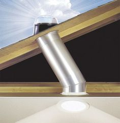 I would love to get more natural light in my home, especially in the closets and basement!!  Tubular Skylights - Natural Daylighting - Bob Vila