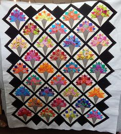NOSEGAY QUILT..........PC Quilting Blog - Cactus Needle Quilts, Fabric and More: Nosegay Quilt