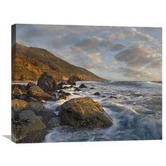 Beach At Kirk Creek Beach, Big Sur, California By Tim Fitzharris, 22 X 28-Inch Wall Art