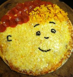 Caillou Pizza! This is super cute!