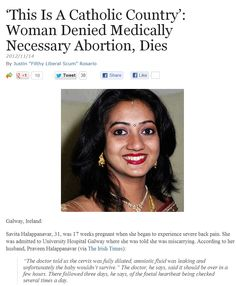 This Is A Catholic Country'- Woman Denied Medically Necessary Abortion, Dies.