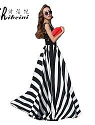 shibeini® Women's Stripe Maxi Dress – AUD $ 25.26