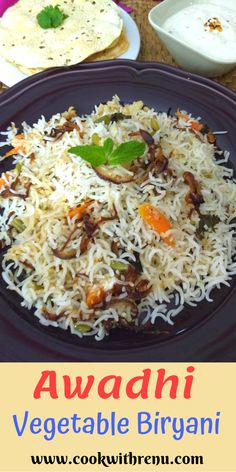 Awadhi Vegetable Biryani is a simple and delicious fragrant and flavourful Biryani, which has flavours from the spices and is very low on the heat. Indian Food Recipes, Asian Recipes, Indian Foods, Entree Recipes, Dinner Recipes, Gluten Free Recipes, Vegetarian Recipes, Rice Recipes, Vegetable Biryani Recipe