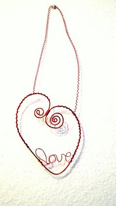 Herz Dekoration aus Draht für ein Bild von Modeschmuckstübchen Andrea auf DaWanda.com