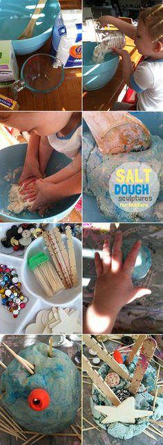 salt dough sculptures for toddlers