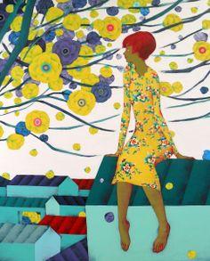 Dones, flors i colors / Mujeres, flores y color / Women, flowers and color ~ Preciosas ilustraciones de Limeunhee