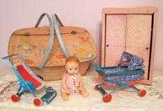 vintage estate sale toy items - charming!