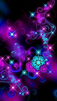 Flowers background wallpapers fractal art 69 ideas for 2019 Butterfly Wallpaper, Purple Wallpaper, Cute Wallpaper Backgrounds, Locked Wallpaper, Butterfly Art, Pretty Wallpapers, Flower Backgrounds, Cellphone Wallpaper, Galaxy Wallpaper