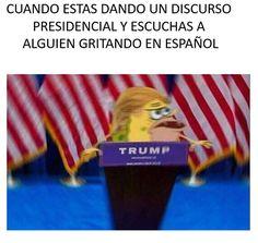 Si eres Trump te identificarás. | 24 Memes que prueban que todos somos Bob Esponja cavernícola
