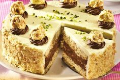 Tort aniversar cu ciocolată | Click! Pofta Buna! Cheesecake, Good Food, Cooking Recipes, Candy, Sweet, Desserts, Pies, Alternative, Tailgate Desserts