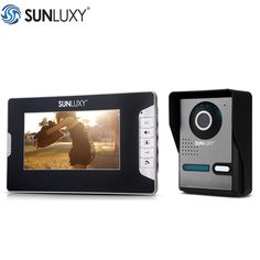 "118.66$  Buy now - http://aliorn.shopchina.info/1/go.php?t=32814047052 - ""SUNLUXY Video Intercom Home Security 7 Inch TFT LCD Doorbell Intercom Kit 1-Camera 1-Monitor Night Vision Monitor 1/4"""" CMOS""  #aliexpresschina"