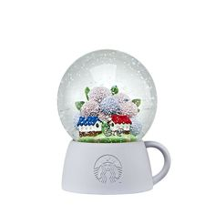 Starbucks Korea 2020 Jeju hydrangea snow globe _ limited product in Jeju Island Starbucks Specials, Christmas Tumblers, Starbucks Christmas, Jeju Island, Starbucks Tumbler, Hydrangea, Cherry Blossom, Snow Globes, Korea