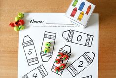 Math Games, Math Activities, Crayon Roll, Color Crayons, Collor, Free Preschool, Fun Learning, Counting, Free Printables