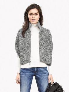 Zip Sweater Capelet