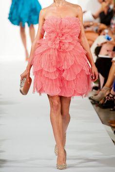Oscar de la Renta Layered tulle and silk dress NET-A-PORTER.COM