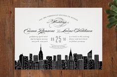 NEW New York City Skyline Wedding Invitation Pinterest Weddings