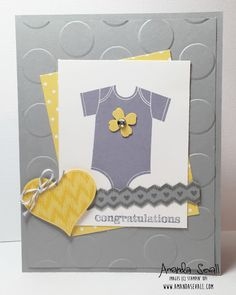Amanda Sevall Designs: 365 Cards: Congratulations on Your Little Addition