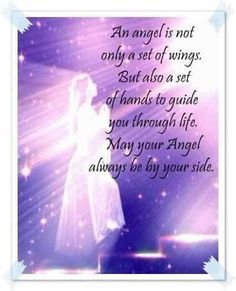 May your angel always be by your side.