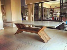"207 Likes, 1 Comments - F L O A T • concrete (@float___design) on Instagram: ""• polished concrete on wood ___ concrete grey with kiaat base | XAVIER #polishedconcrete #concept…"""