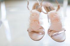 Blush wedding shoes // photo by Mad Love Weddings http://theeverylastdetail.com/2013/09/23/purple-and-gray-boho-chic-beach-wedding/
