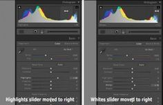The difference between highlights and whites sliders in Lightroom