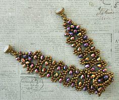 Linda's Crafty Inspirations: Bracelet of the Day: Rainbow Bobble Bangle