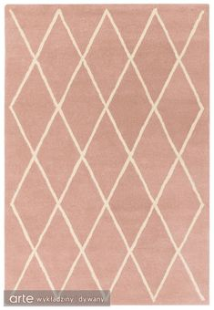 Albany Diamond Wool Rug by Asiatic Rugs - Pink Cheap Carpet Runners, Wool Carpet, Grey Carpet, Hand Tufted Rugs, Carpet Styles, Geometric Rug, Buy Rugs, Carpet Colors, Modern Carpet