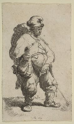 Man Making Water, 1631, etching, Rembrandt  http://www.pinterest.com/coilinm/etchings-random-collection-i-like-to-look-at-again/