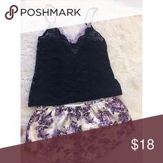 Lace Top Purple Floral Bottoms Sleepwear Set Lace Top Purple Floral Bottoms Sleepwear Set . Make me an offer Intimates & Sleepwear